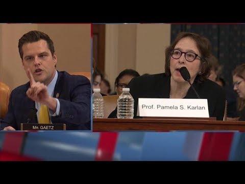 Matt Gaetz Schools Professors at Impeachment Hearing; Melania Trump Defends Baron