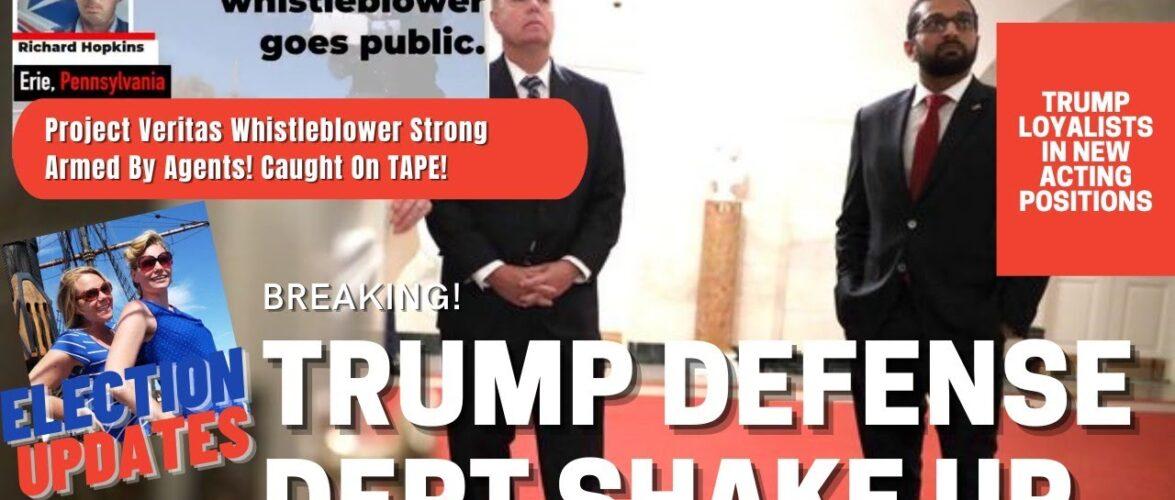 #ProjectVeritas BOMBSHELL! Trump Defense Dept SHAKE UP, Plus Election Updates! 11/10/2020
