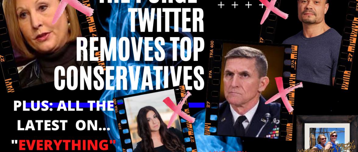 The PURGE From Twitter: Sidney Powel, Gen Flynn, Tracy Beanz, Dan Bongino & MORE